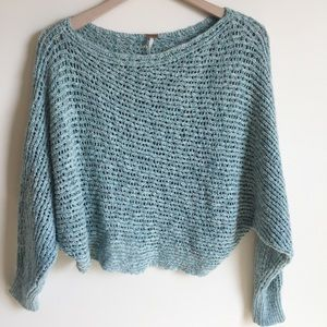 Free People Knit Sweater Blue Size Extra Small XS